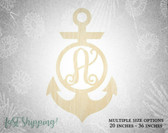 Personalized Wood Anchor Wall Decor