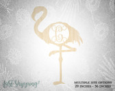 Personalized Wooden Flamingo Wall Decor