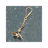 Brass Key Chain - Propeller #2
