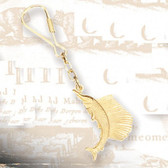 Brass Key Chain - Sailfish