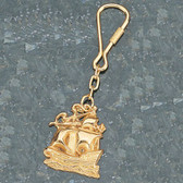 Brass Key Chain - Tall Ship