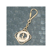 Brass Key Chain - Lifering with Anchor