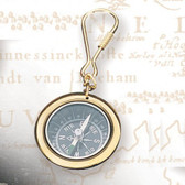 Brass Key Chain -Compass