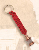 Brass Key Chain - Lantern with Red Lanyard
