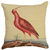 Red Curlew Petit Point Pillow