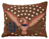 Eagle and Shield Mixed Stitched Pillow