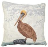 Pelican Needlepoint Pillow