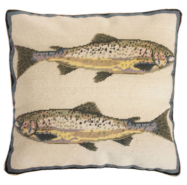 peace of art pillow hook burgess the stephanie painted trout products