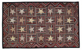 Stars and Stripes Hand Tufted Wool Rug