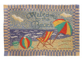 Welcome to the Beach Hooked Wool Rug