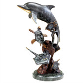 Dolphin and Undersea Friends Sculpture