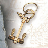 Brass Key Chain - Anchor Chain #2