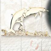 "Brass Key Hanger - Dolphins 7.5"""