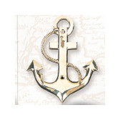 Brass Key Hanger - Anchor