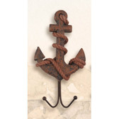 Antique Wood Key Hanger - Anchor IV  - 8""