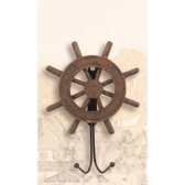 Antique Wood Key Hanger - Ship Wheel