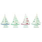 Colorful Mini Sailboats - Set of 12