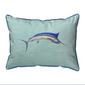Blue Marlin Teal Pillows