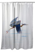 Eddie's Blue Heron Shower Curtain