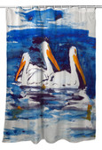 Three Pelicans Shower Curtain