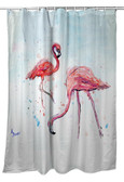 Betsy's Flamingos Shower Curtain