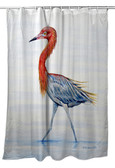 Reddish Egret Shower Curtain
