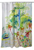 Colorful Palms Shower Curtain