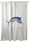 Blue Marlin Shower Curtain