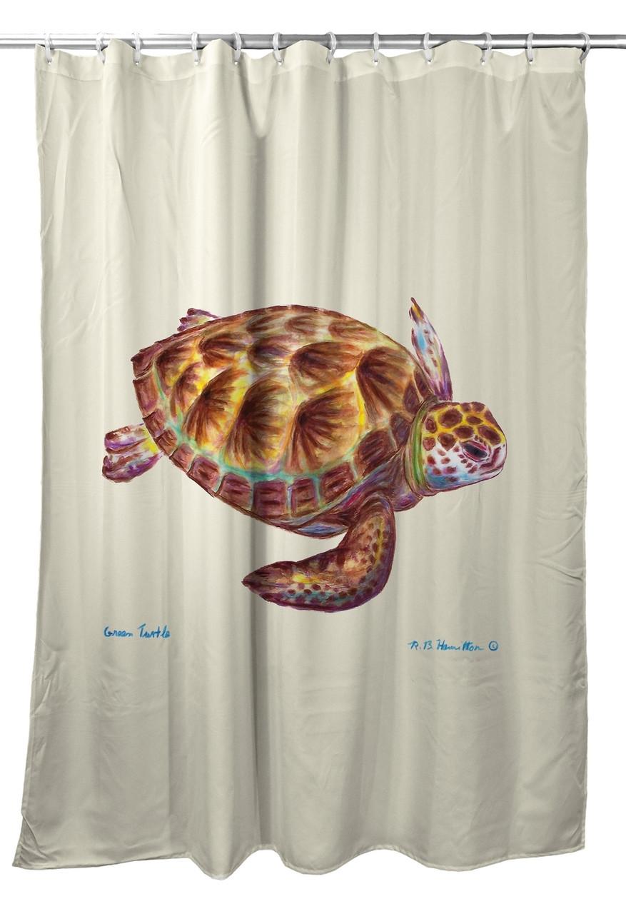 Green Sea Turtle Shower Curtain Image 1