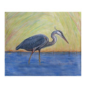 Blue Heron Fleece Throw