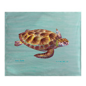 Green Sea Turtle Fleece Throw