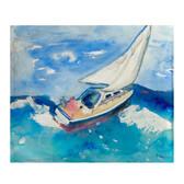 Betsy's Sailboat Fleece Throw