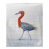 Reddish Egret Fleece Throw