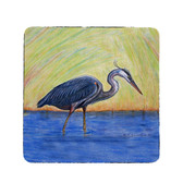Blue Heron Coasters - Set of 4