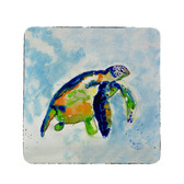 Blue Sea Turtle Coasters - Set of 4