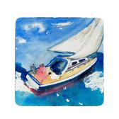 Betsy's Sailboat Coasters - Set of 4