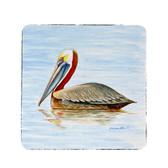 Summer Pelican Coasters - Set of 4