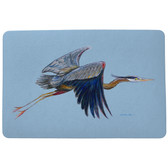 Eddie's Blue Heron Door Mat