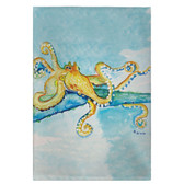 Gold Octopus Guest Towels - Set of 4