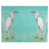 Snowy Egret Place Mats - Set of 2