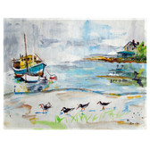 Boats & Sandpipers Place Mats - Set of 2