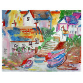 Boats At Steps Place Mats - Set of 2