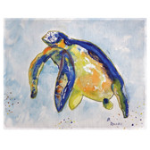 Blue Sea Turtle Left Place Mats - Set of 2