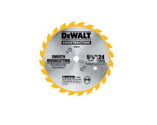 """DeWALT DW9054 Wood Cutting Cordless Saw Blade 136mm (5-3/8"""") x 24T"""