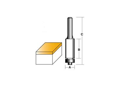 "Carb-I-Tool T8016B Flush Trim 12.7mm 1/4"" Shank"