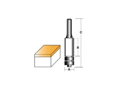 "Carb-I-Tool T8016BB Flush Trim Double Bearing 12.7mm 1/4"" Shank"