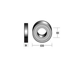 Carbitool TB6 Ball Bearing 6.35mm OD 3.2mm ID
