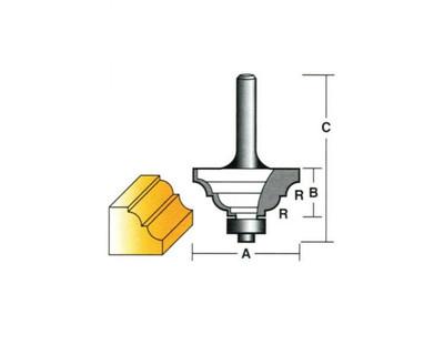 "Carb-I-Tool TC16B1/2 Classical 41mm 1/2"" Shank"