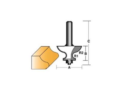 """Carb-I-Tool TEB15B1/2 Table Edge 50.8mm 1/2"""" Shank"""