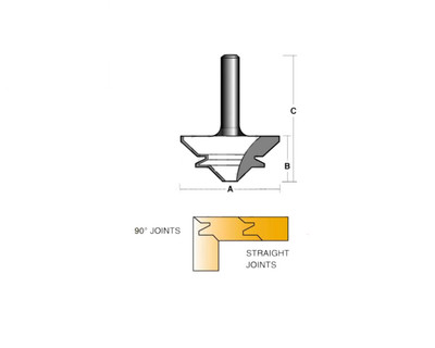 "Carb-I-Tool TML601/2 Mitre Lock 90 Degree 1/2"" Shank"